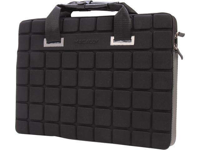 macally Black Lightweight Neoprene Notebook Sleeve Model AIRCASE