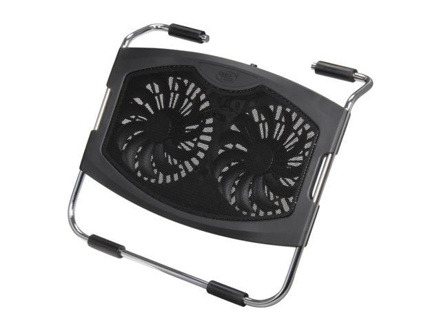 Logisys Computer Dual 140mm Fan Laptop Cooler Pad NP2001BK