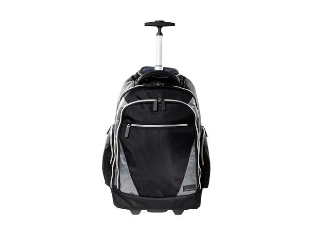 Eco Style Black Sports Voyage Rolling Backpack for 17.3