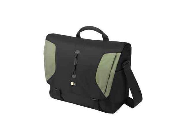 "Case Logic Black/Green 15.4"" Lightweight Sport Messenger Bag Model LNM-15FBlack/Green"