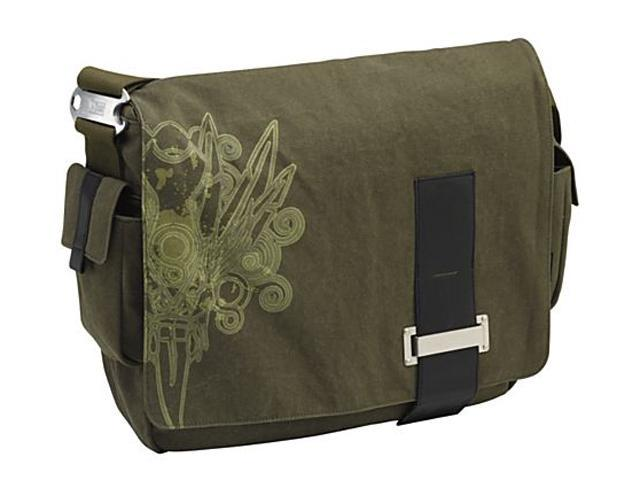 "Case Logic Green 15.4"" Canvas Messenger Bag Model SNMB-15F"