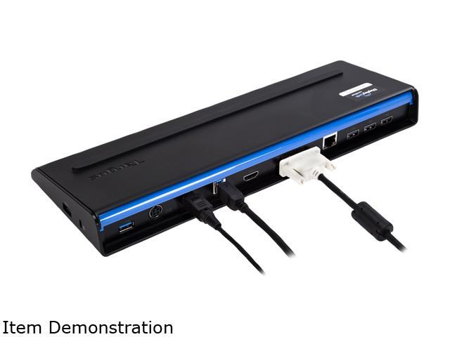 Targus Black ACP71USZ USB 3.0 SuperSpeed Dual Video Docking Station with Power