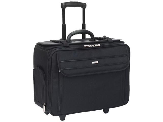 "SOLO Black 17"" Ballistic Poly Rolling Laptop Catalog Case Model B151"