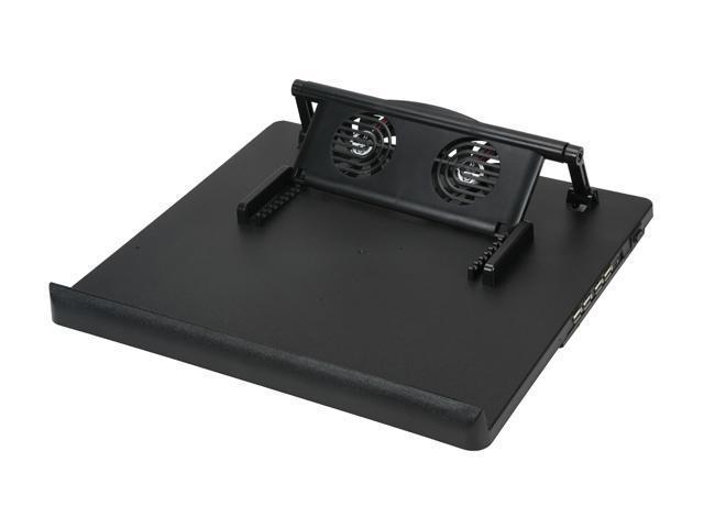 BYTECC Adjustable + 4ports USB Hub Quiet Notebook Cooler NC-768