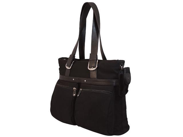 Mobile Edge Black Eco-Friendly Canvas Laptop Tote - 16