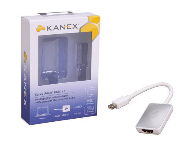 Kanex Model MDPHDMIV2 iAdapt HDMI V2 - Mini DisplayPort to HDMI Adapter w/ Audio Support