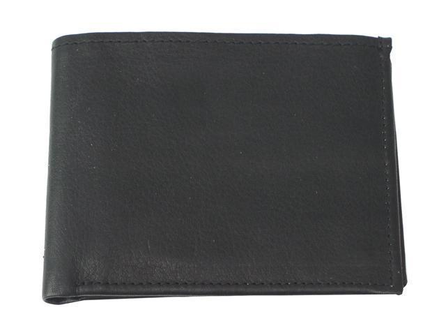 Piel LEATHER 9052-BLK Black Bi-Fold Wallet