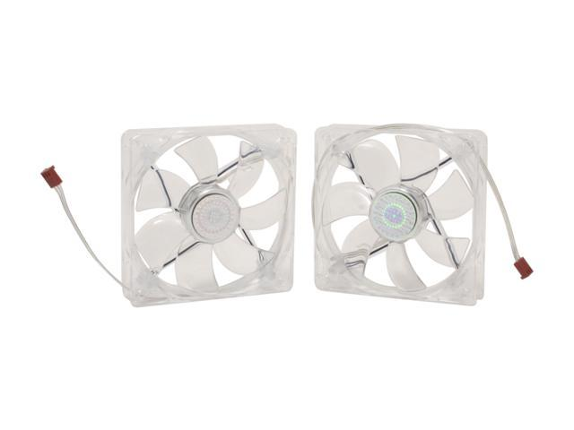 Cooler Master Sleeve Bearing 120mm Blue LED Silent Fan for Computer Cases, CPU Coolers, and Radiators (Value 2-Pack)