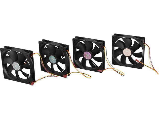 Cooler Master Super Fan 120 - Ball Bearing 120mm Silent Cooling Fan for Computer Cases, CPU Coolers, and Radiators (Value 4-Pack)
