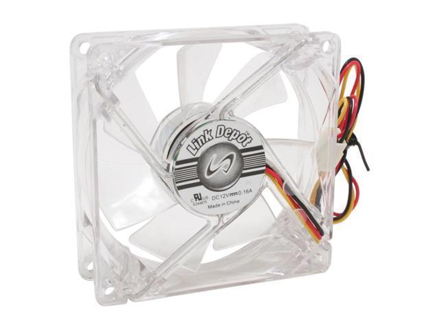 Link Depot FAN-4LED-80BU Blue LED Case Cooling Fan