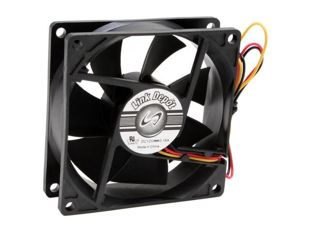 Link Depot FAN-80-BK 80mm Case Cooling Fan
