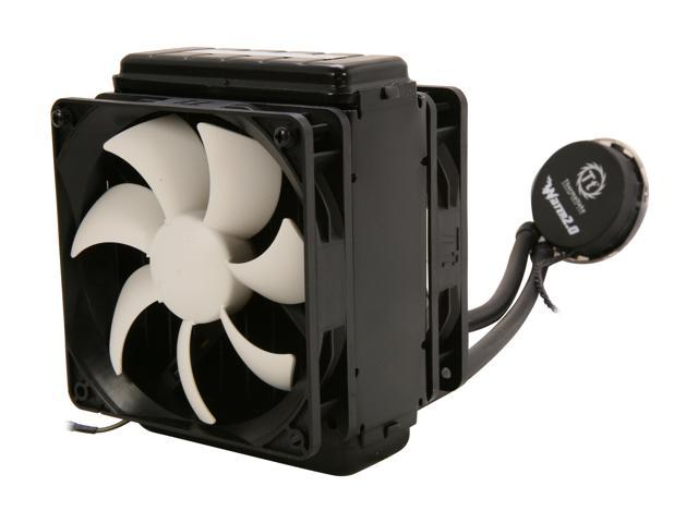 Thermaltake WATER2.0 Pro Closed-Loop All In One Liquid CPU Cooler Dual 120mm PWM Fans 120x49mm Radiator CLW0216