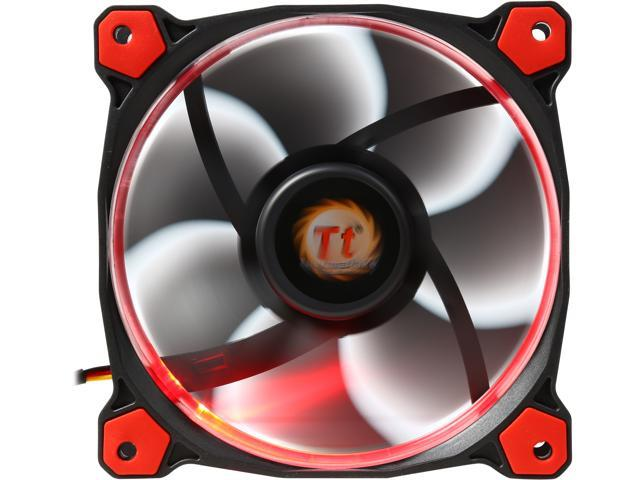Thermaltake Riing 12 Series High Static Pressure 120mm Circular Red LED Ring Case/Radiator Fan CL-F038-PL12RE-A