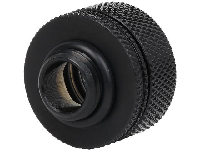 """Thermaltake Pacific CL-W092-CA00BL-A DIY LCS PETG Black 16mm (5/8"""") OD Compression Fitting"""