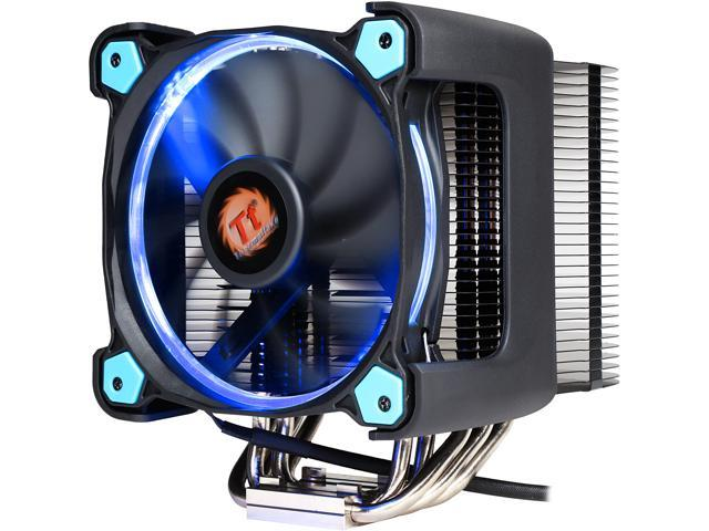 Thermaltake CL-P021-CA12BU-A 120mm Hydraulic Riing Silent 12 Pro Blue LED 170W Intel/AMD PWM Fan Black CPU Cooler