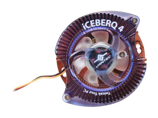 Vantec Iceberq 4 Copper VGA Cooling Kit with LED Light - Model CCB-A4C