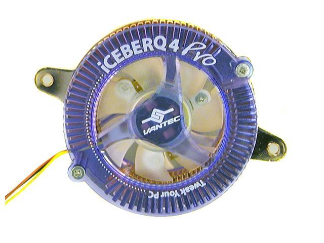 "VANTEC CCB-A4P Ball ""IceBerq 4 Pro"" All-In-One VGA Cooling Kit with Blue LED Lights"