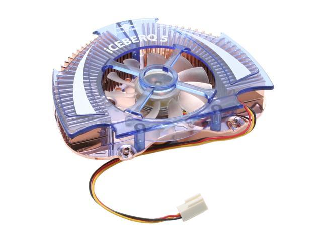 Vantec Iceberq 5 Copper VGA Cooling Kit with Blue LED Fan - Model CCB-A5C