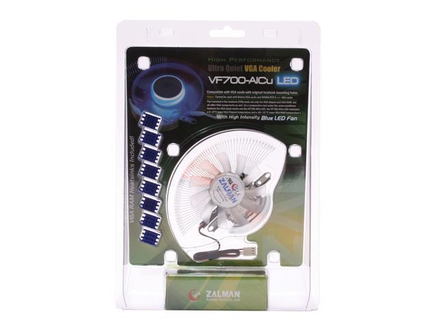 ZALMAN VF700-AlCu LED 2 Ball Blue LED VGA Cooling Fan with RAM Heatsink
