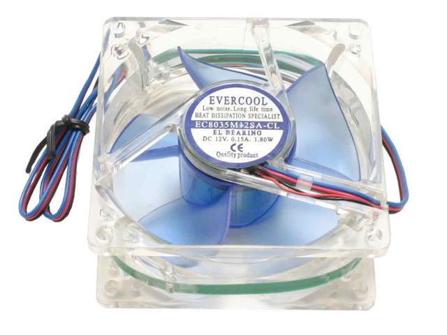 EVERCOOL CL8035/LD4 80mm Red LED Case Fan