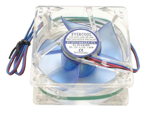 EVERCOOL CL8035/LD4 80mm Red LED Case Fan