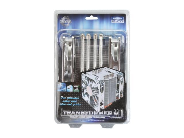 EVERCOOL HPJ-12025 120mm Ever Lubricate Bearing (Long Life bearing) Transformer 4 Heat Pipe CPU Cooler