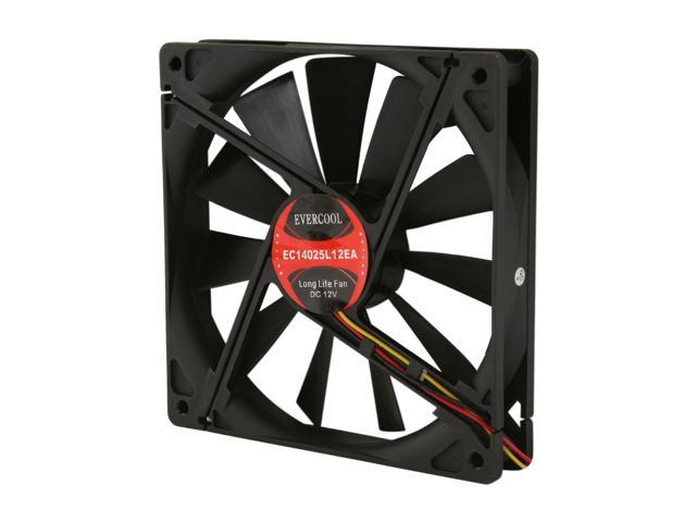 EVERCOOL EC-14025 Series FAN-EC1425L12EA 140mm Case Cooling Fan