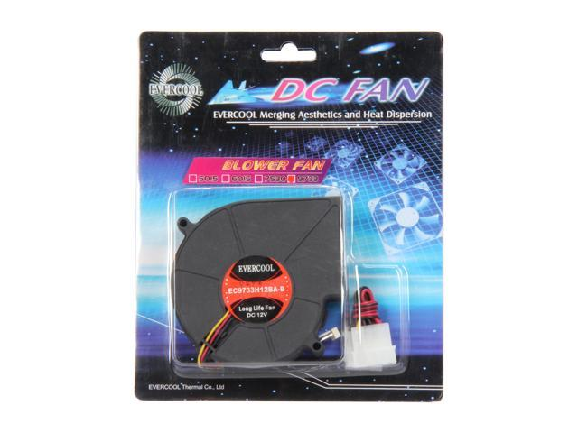 EVERCOOL EC-9733 Series F-EC9733H12BA-B 92mm Blower DC Fan