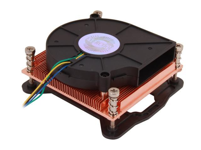 EVERCOOL LGAL1156A-B715 75mm 2 Ball All Copper Provides Faster Heat Dissipation Rate, For Intel E3 and LGA 1156/1155 Core ...