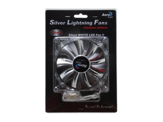 AeroCool SilverLightning120mm 120mm White LED Case Cooling Fan