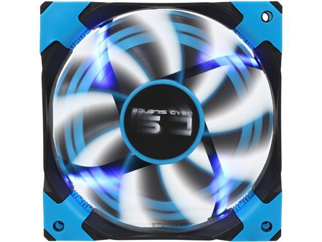 AeroCool DS 120mm Blue 120mm Patented Dual layered blades with noise and shock reduction frame