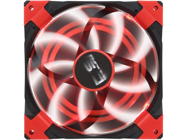 AeroCool DS 140mm Red 140mm Patented Dual layered blades with noise and shock reduction frame