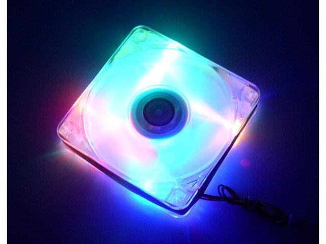 AeroCool AeroFlow-4CB 120mm Orange/Blue/Yellow/Green Color LED LED Case Fan