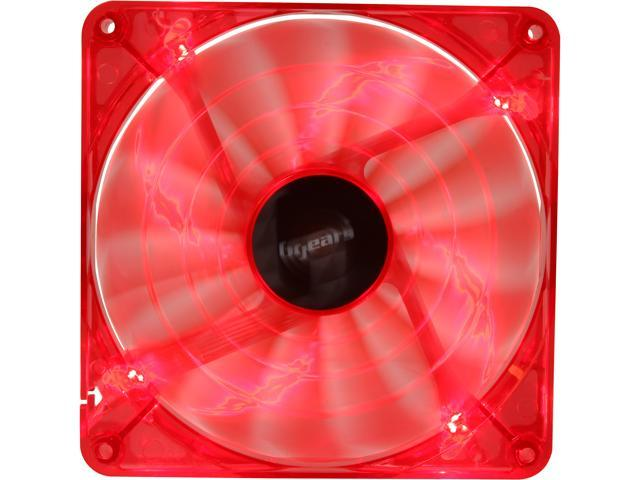 bgears b-PWM 140 Red 140mm Red LED PWM technology mini 4 pin 4 wire 2 ball bearing high speed high performance 15 blades Case Fan