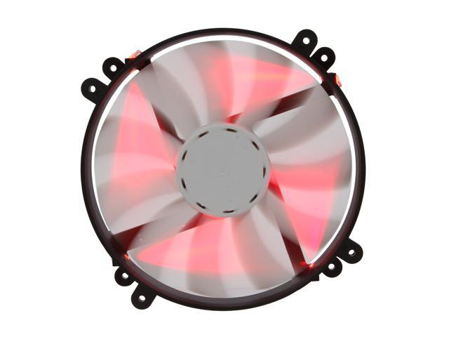 NZXT FS 200LED FS-200RB-RLED Red LED SILENT Red LED Fan with ON/OFF Switch