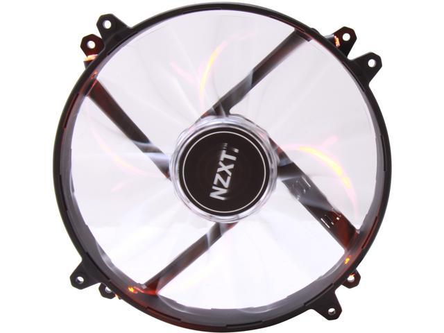NZXT RF-FZ20S-O1 200mm Orange LED True 200mm Wide Orange LED Fan with Sleeved-Cable