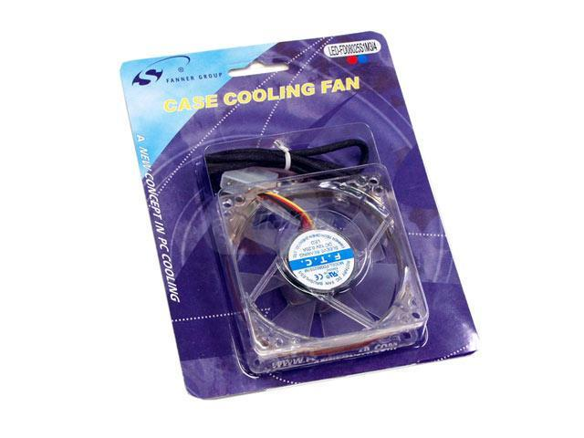 Spire LED-FD08025S1M3/4 80mm Multi-Color LED Case Cooling Fan
