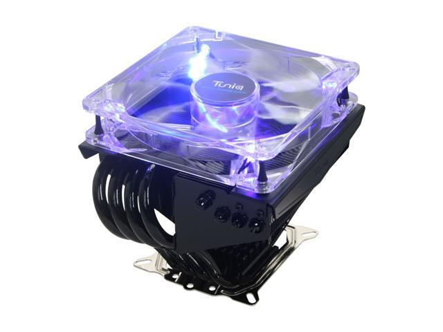 Tuniq CR-PRO120-BK-RV1 120mm Magnetic Fluid Dynamic Bearing Propeller 120 CPU Cooler,  with 1156 Brackets, free TX-3 Thermal Paste Included Inside