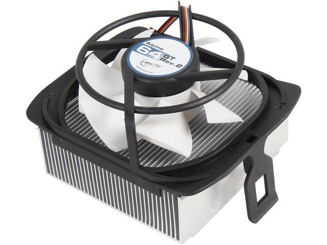 ARCTIC Alpine 64 GT Rev. 2 CPU Cooler - AMD, Supports Multiple Sockets, 80mm PWM Fan at 22dBA