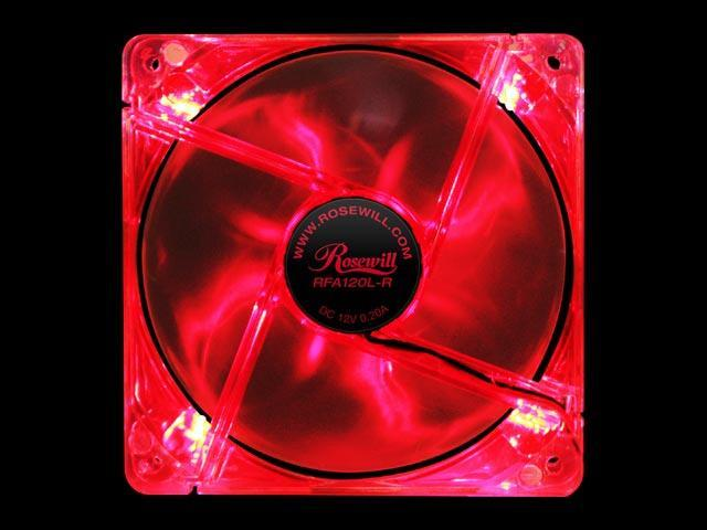 Rosewill RFA120L-R 4 Red LEDs LED Case Fan