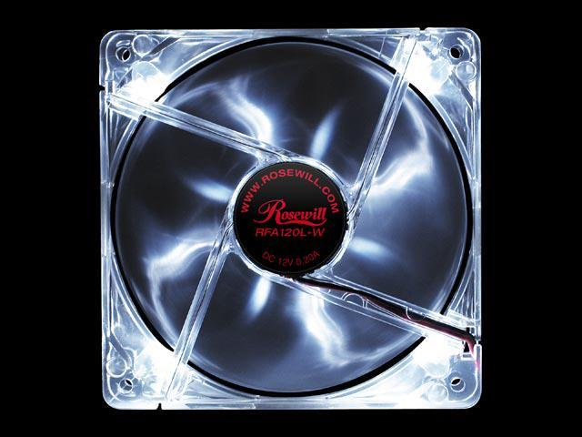 Rosewill RFA120L-W 4 White LEDs LED Case Cooling Fan
