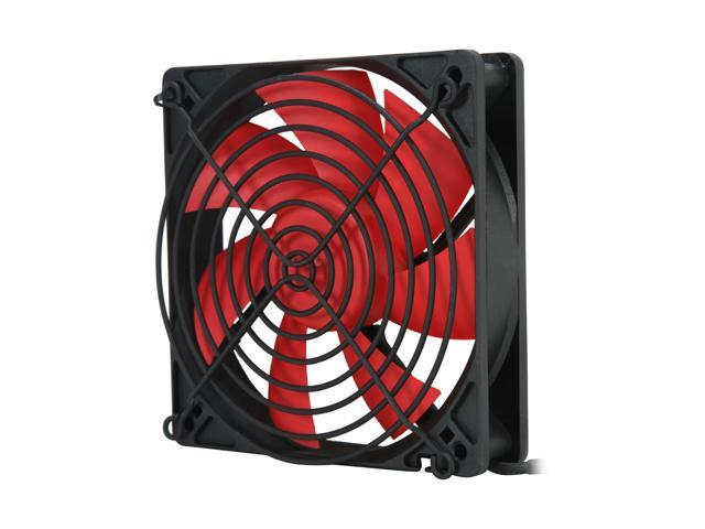 Rosewill RFX-120 - 120mm Computer Case Cooling Fan - Black Frame with Red Fan Blades, 2-Ball Bearing, Silent, 2-Speed with PWM Control