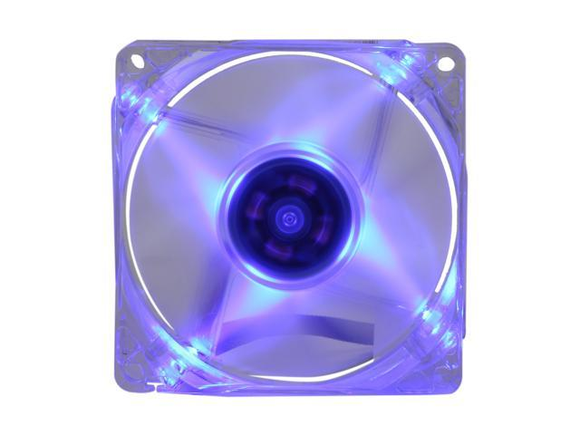 Rosewill 80mm Computer Case Fan (Case Cooling Fan) - Transparent Frame & Blue LEDs, 2-Ball Bearing, Silent Fan, 2 Rotation Speed with PWM Control; RFX-80BL