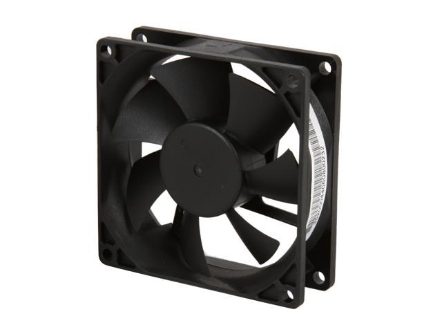 Rosewill 80mm Computer Case Fan (Case Cooling Fan) - Sleeve Bearing, Silent Fan with LP4 Adapter; RFA-80-K