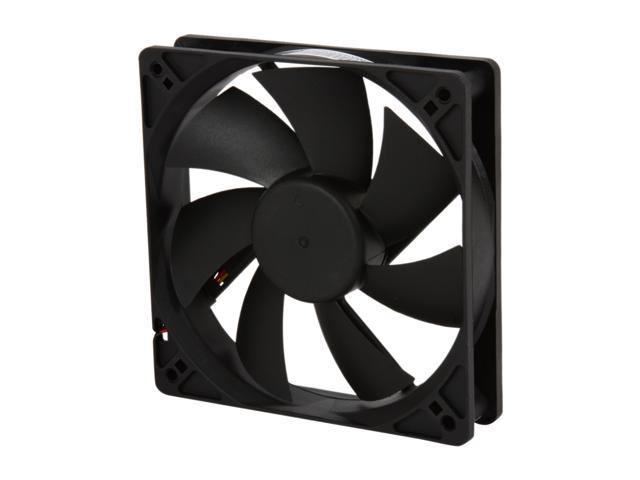 Rosewill RFA-120-K - 120mm Computer Case Cooling Fan with LP4 Adapter - Sleeve Bearing, Silent - Retail