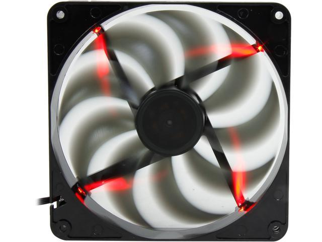 140mm Computer Case Cooling Fan LP4 Adapter Smoke Red LED Dynamic Bearing Silent Rosewill