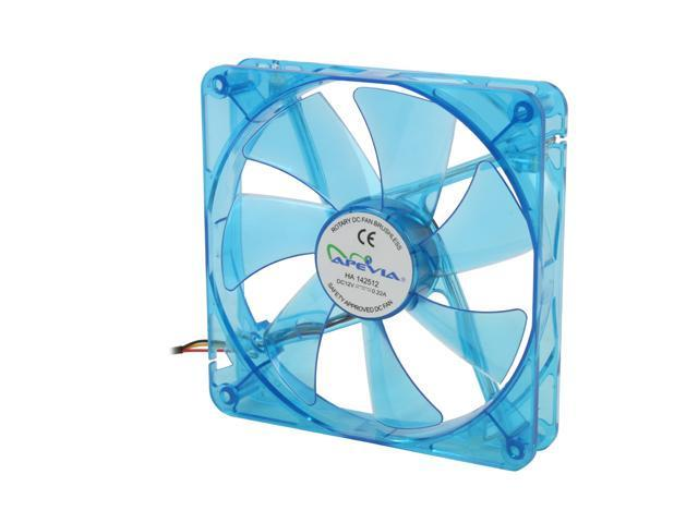 APEVIA CF14SL-UBL Blue LED Case cooler