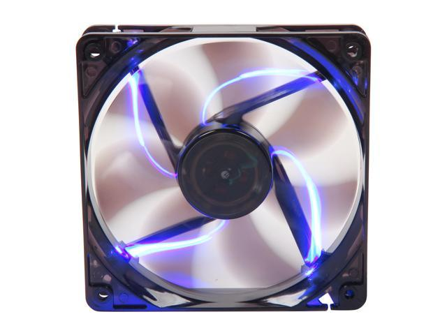 APEVIA CF12SL-TBL 120mm UV blue LED fan w/3-pin and 4-pin connectors and black grill