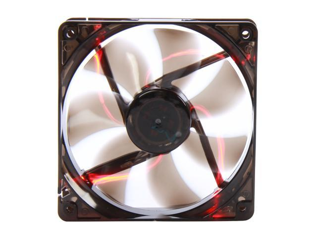 APEVIA  CF12SL-TRD  120mm UV red LED fan w/3-pin and 4-pin connectors and black grill