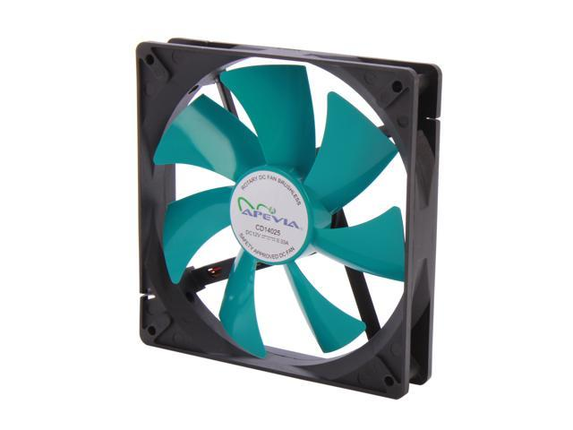 APEVIA  14S-BT  140mm Case fan w/3-pin and 4-pin connectors - Retail